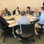 UW-Parkside team working at UW System Fall Advising Workshop October 2018