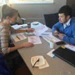 UW-Superior team working at UW System Fall Advising Workshop October 2018