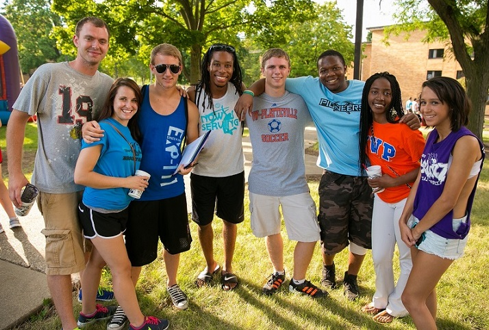 UW-Platteville diverse group of students