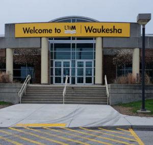 UW-Milwaukee Waukesha building signs