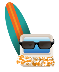zuse with surf board