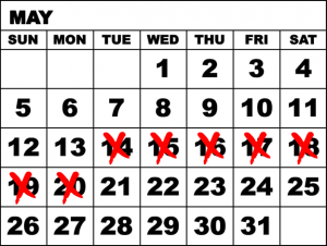 7 day calendar redx