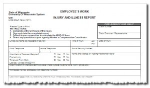 Employee's work injury and illness report